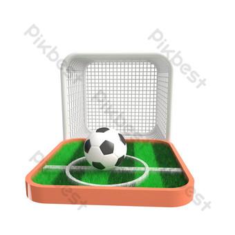 العشب الأخضر ملعب لكرة القدم نمط صور PNG قالب C4D