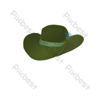أخضر نمط عارضة قبعة صورة بابوا نيو غينيا صور PNG قالب PSD