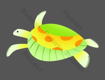 tortuga marina verde vida marina Elementos graficos Modelo PSD
