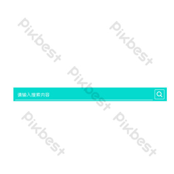 Green striped magnifying glass search box PNG Images Template AI
