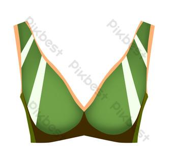 التوضيح زخرفة الملابس الداخلية الخضراء صور PNG قالب PSD