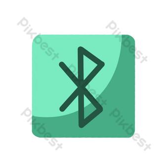 綠色無線網絡信號網頁設計 元素 模板 PSD