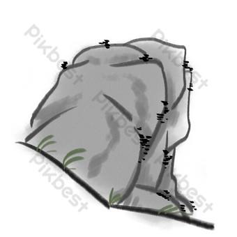حجر الحبر الرمادي صور PNG قالب PSD