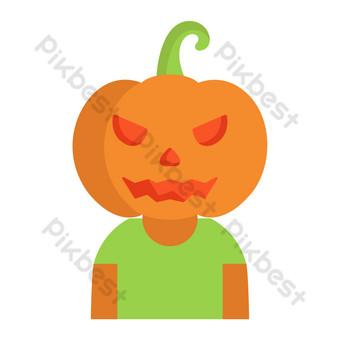avatar de hombre calabaza divertido de halloween Elementos graficos Modelo AI