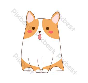 ومن ناحية رسم جرو حيوان الكرتون صور PNG قالب PSD