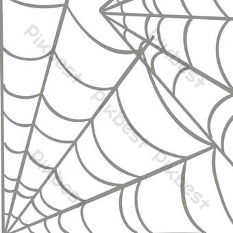 Vẽ tay phim hoạt hình mạng nhện tơ lụa vector Công cụ đồ họa Bản mẫu PSD