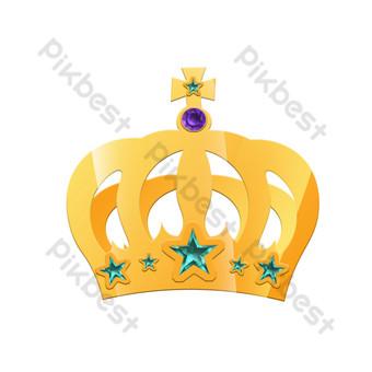 手繪五星級皇冠圖 元素 模板 PSD