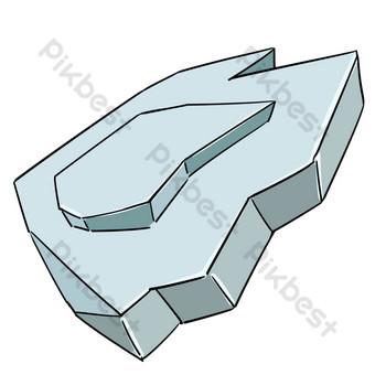 ومن ناحية رسم التوضيح الحجر الرمادي صور PNG قالب PSD