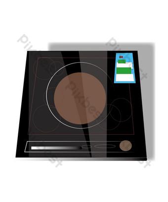 مرسومة باليد طباخ التعريفي الأجهزة المنزلية التوضيح صور PNG قالب AI