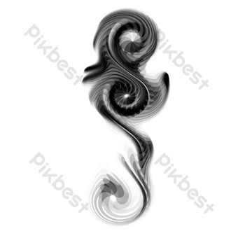 Hand-drawn ink painting free drawing PNG Images Template PSD