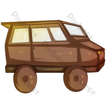 ilustrasi mobil off road yang digambar tangan Elemen Grafis Templat PSD