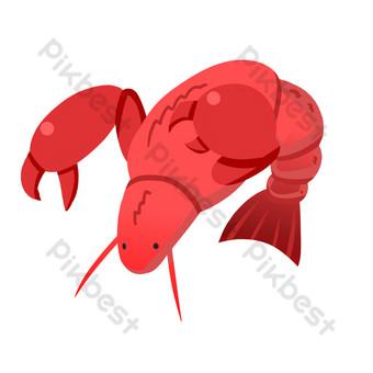 Hand drawn sea animal sea shrimp illustration PNG Images Template PSD