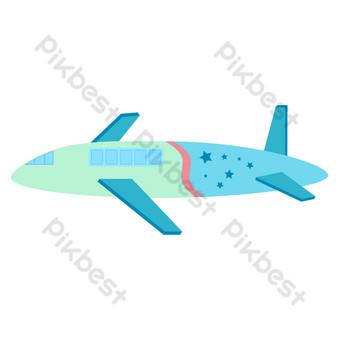 مرسومة باليد طائرة النقل الطيران المدني التوضيح صور PNG قالب PSD