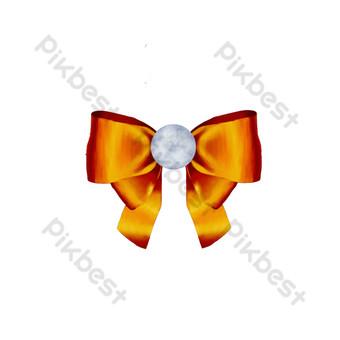 Mot universel de ruban doré arc peint à la main Éléments graphiques Modèle PSD