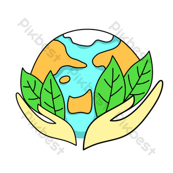 Charité de la terre peinte à la main Éléments graphiques Modèle PSD