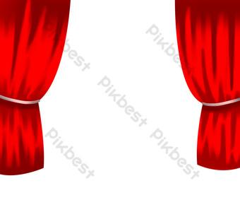手繪舞台幕布 元素 模板 PSD