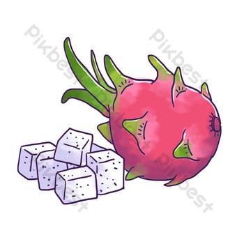 من ناحية رسم قلب أبيض فاكهة التنين قطع بابوا نيو غينيا الحرة صور PNG قالب PSD