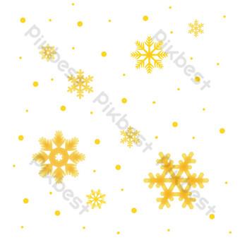 decoración de copo de nieve amarillo pintado a mano Elementos graficos Modelo PSD