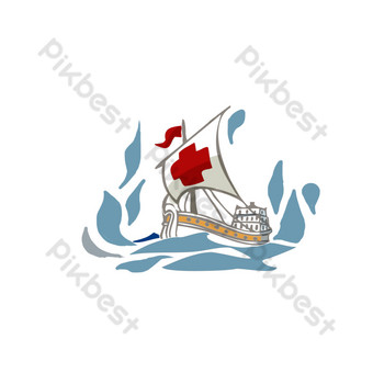 Handsome sea sailing png PNG Images Template PSD