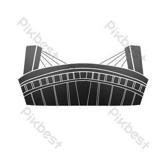 Hangzhou Sea-crossing Bridge PNG Images Template PSD