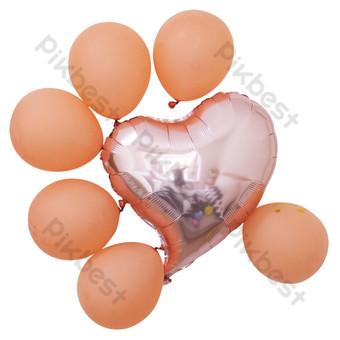 بالون رومانسي جميل على شكل قلب أبيض صور PNG قالب RAW