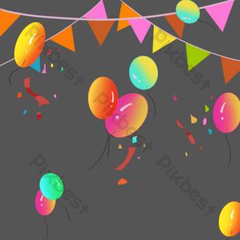 Święto wakacji Elementy graficzne Szablon PSD