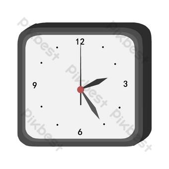 الأجهزة المنزلية أسود الحدود على مدار الساعة التوضيح صور PNG قالب PSD