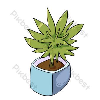 بيئة المنزل الديكور الداخلي النباتات الخضراء تنقية الهواء لطيف النباتات صور PNG قالب PSD