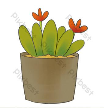 بيئة منزلية داخلية تعيش النباتات الخضراء بوعاء الزهور صور PNG قالب PSD