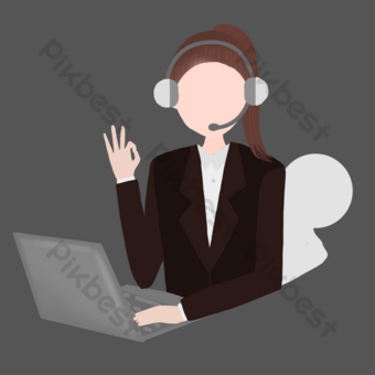 Industry staff customer service PNG Images Template PSD