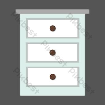 изометрическая прикроватная тумбочка свободный рисунок Графические элементы шаблон PSD