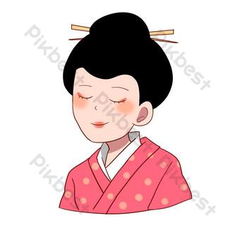 اليابانية كيمونو امرأة التوضيح صور PNG قالب PSD