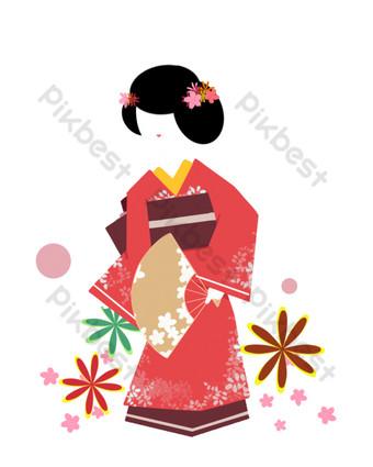 امرأة يابانية صور PNG قالب PSD