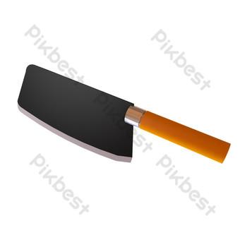 أدوات المائدة سكين قطع الخضار صور PNG قالب C4D