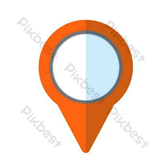 Landmark location PNG Images Template PSD