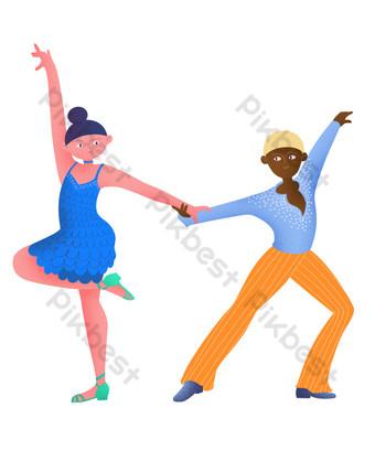 فئة الرقص اللاتينية شريك الرقص اللاتينية صور PNG قالب PSD