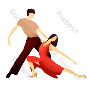 راقصة الرقص اللاتينية صور PNG قالب PSD