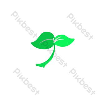 ورقة الديكور نمط العشب صور PNG قالب PSD