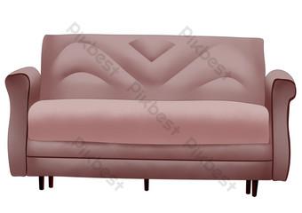 التوضيح أريكة جلدية مزدوجة صور PNG قالب PSD