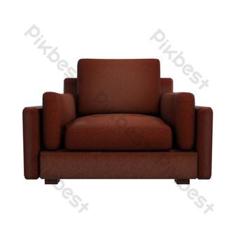 أريكة جلدية واقعية أريكة صور PNG قالب PSD