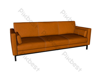 أريكة جلدية صور PNG قالب C4D