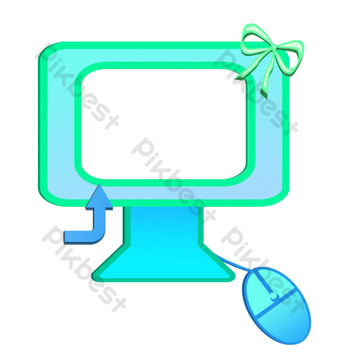 ضوء أزرق قلب فتاة الكمبيوتر صور PNG قالب PSD
