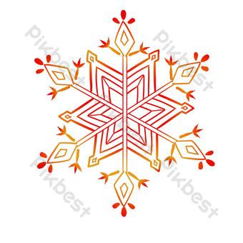 línea decoracion patrón arco hermoso copo de nieve Elementos graficos Modelo PSD