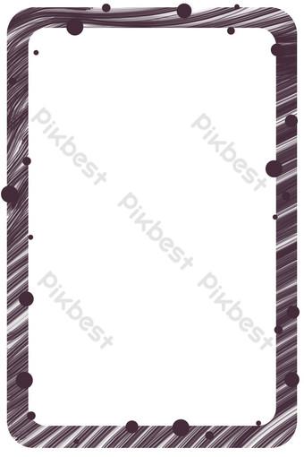 線條紋理圓形邊框 元素 模板 PSD