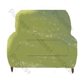 sala de estar sofá sofá dibujado a mano vector creativo Elementos graficos Modelo PSD