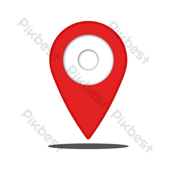 Location search marker PNG Images Template PSD