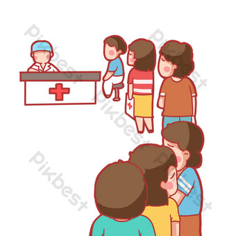 Long lines to see a doctor are difficult to meet PNG Images Template PSD