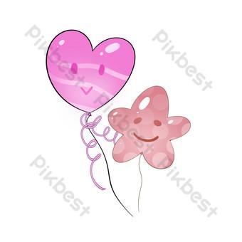 amor decoracion patron hermanas globos Elementos graficos Modelo PSD
