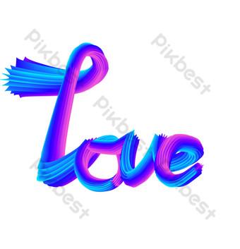 الحب الحب رسائل ثلاثية الأبعاد png صور PNG قالب AI
