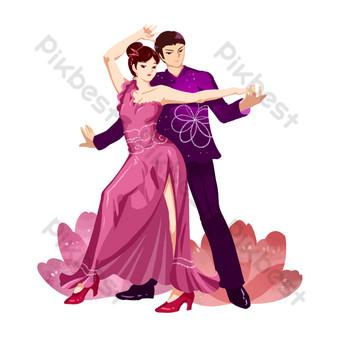 الذكور والإناث الرقص اللاتينية الرقص صور PNG قالب PSD